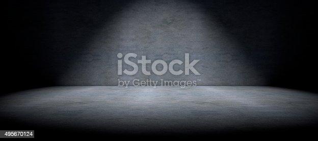 istock Cement floor background and spot light 495670124