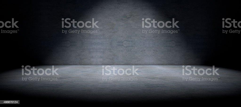 セメントの床を背景ライトとスポット ストックフォト