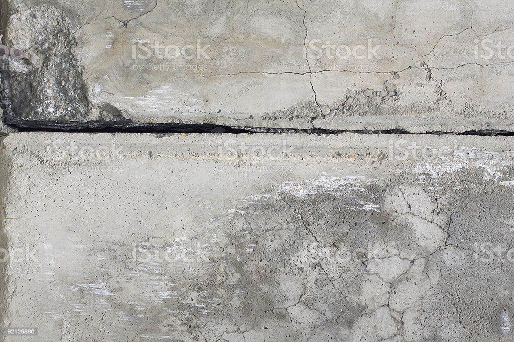 Cement grey wall with crack. royalty-free stock photo