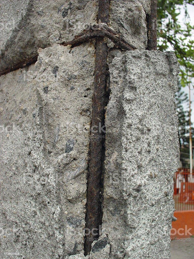Cement & iron royalty-free stock photo