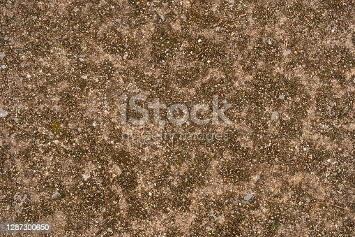 Stone and concrete pavement floor