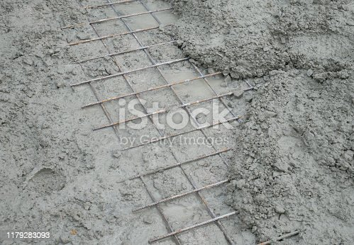 1138442636istockphoto Cement mortar on the surface 1179283093