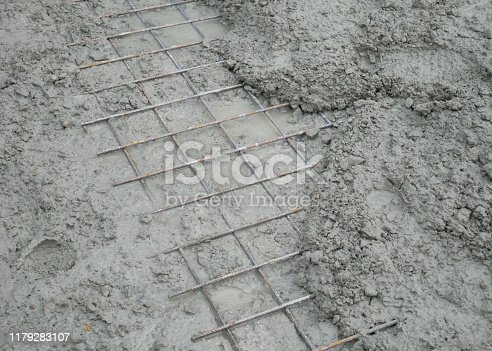 1138442636istockphoto Cement mortar on the surface 1179283107