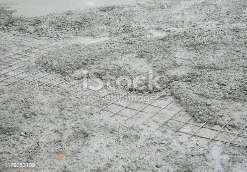 1138442636istockphoto Cement mortar on the surface 1179283109