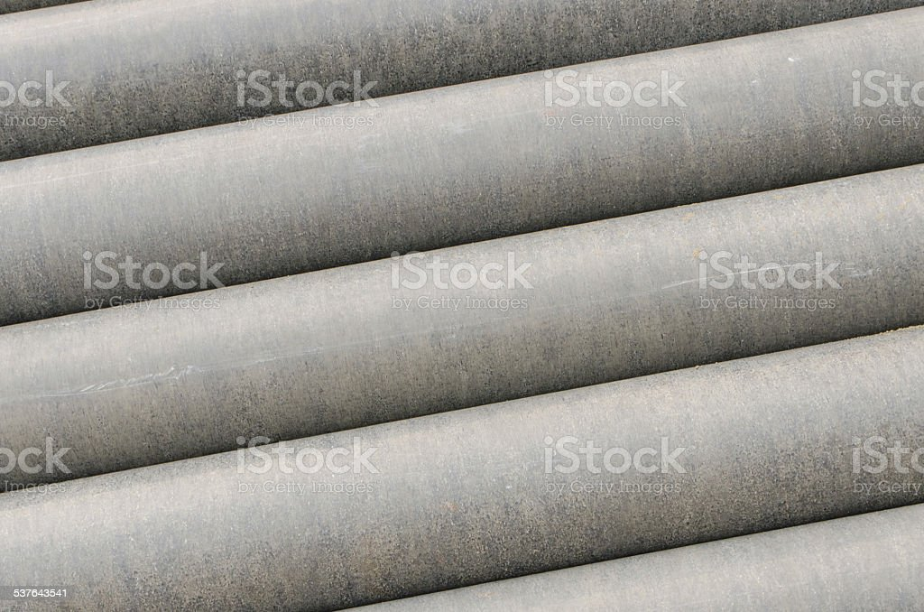Cement pipes stock photo
