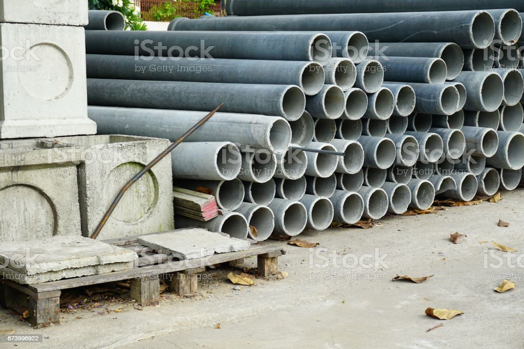 Cement pipes royalty-free stock photo
