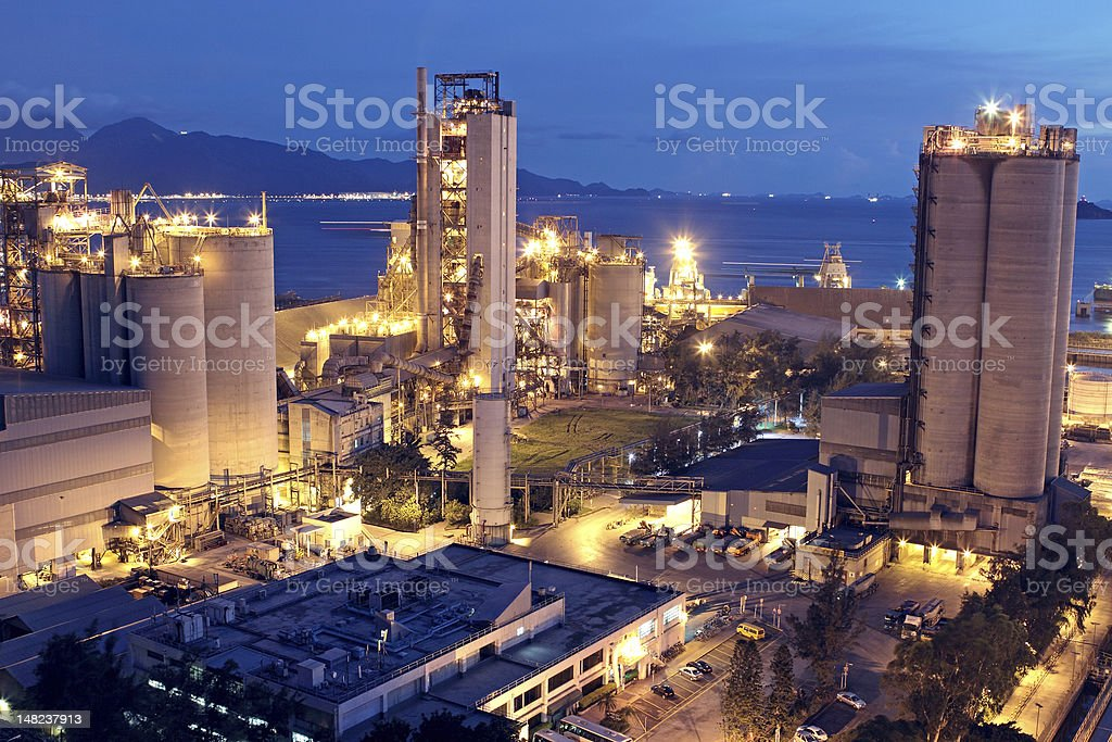 Cement Plant stock photo