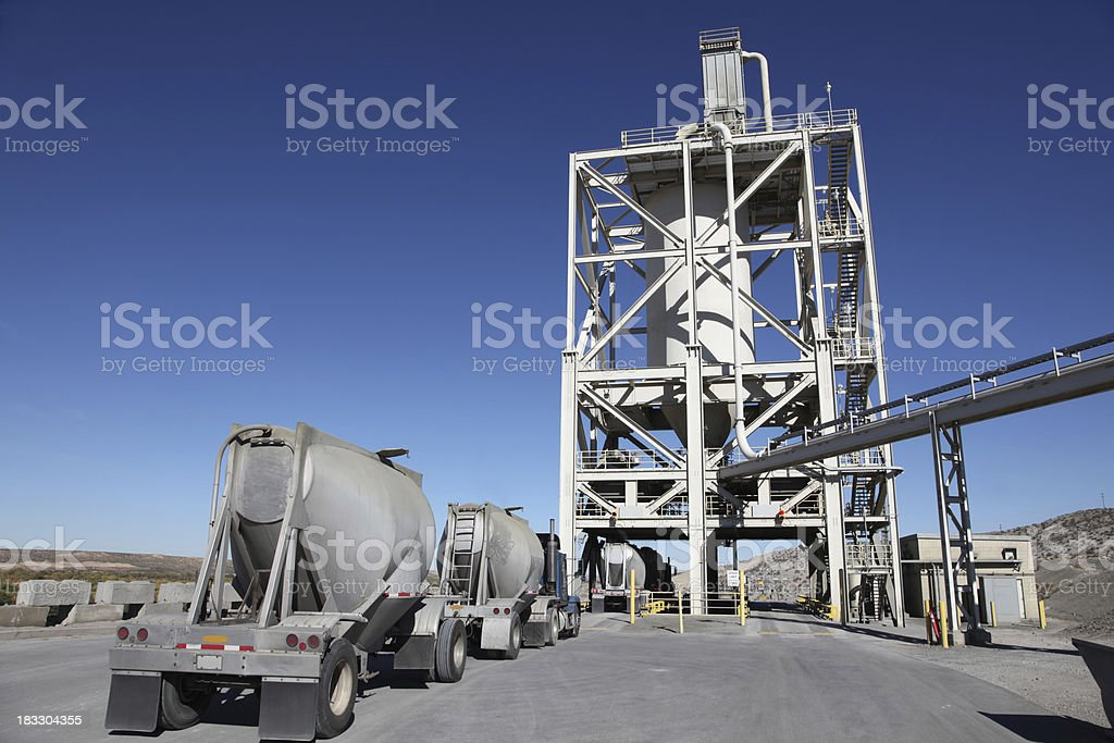 Cement production stock photo