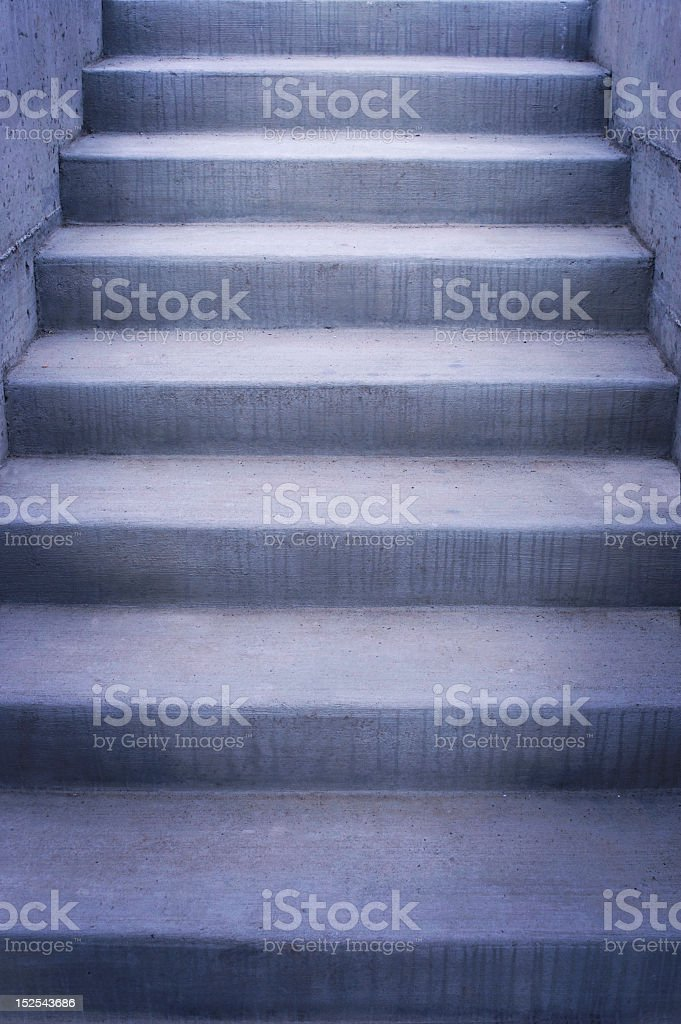 Cement Stairs stock photo