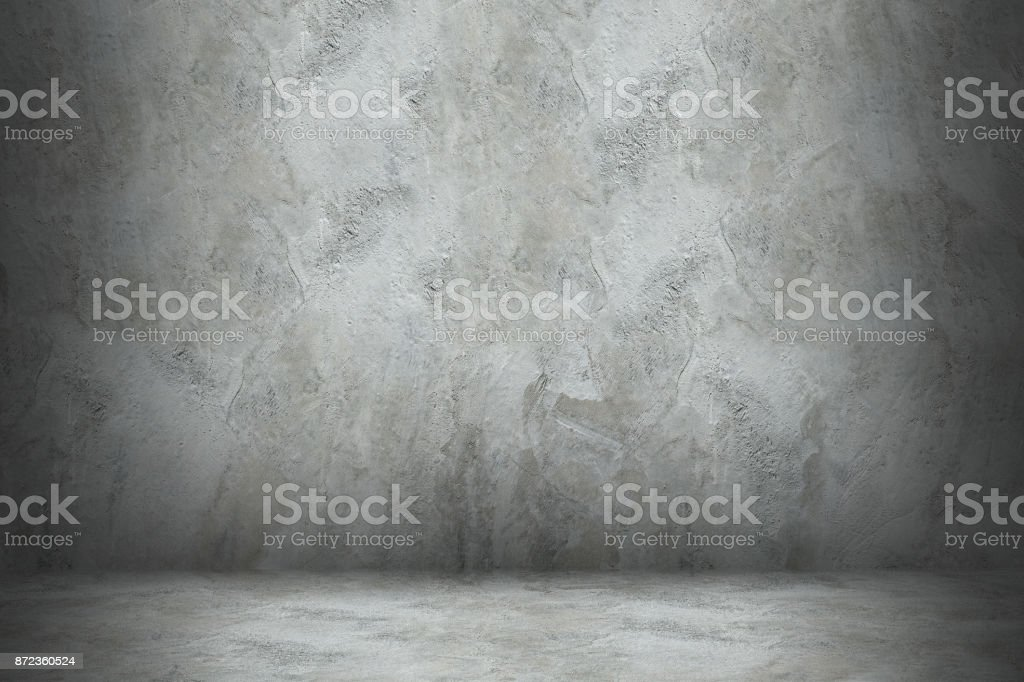Betonmauer und Stock mit Schatten für design – Foto