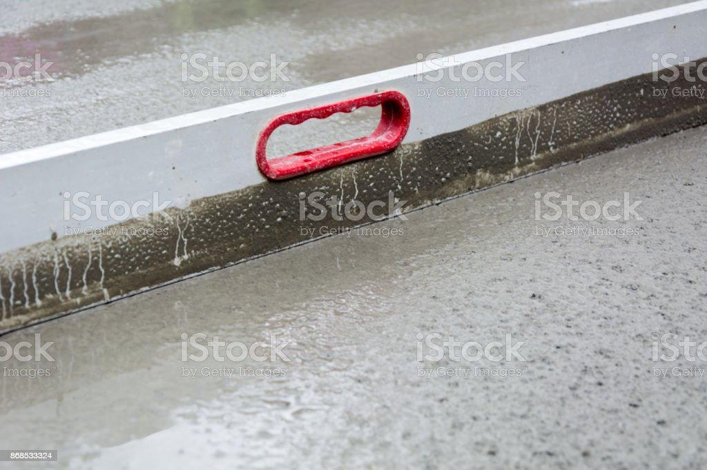 Cement work stock photo