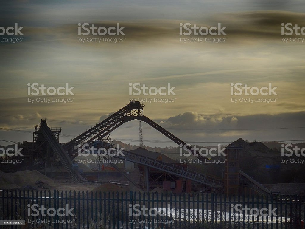 Cement Works royalty-free stock photo