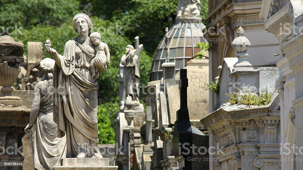 Cementerio de La Recoleta, Buenos Aires, Argentina stock photo
