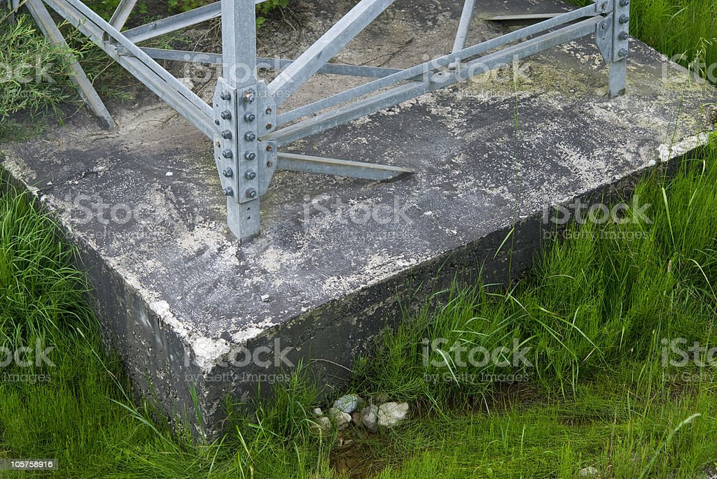 Cementground of a powerline royalty-free stock photo