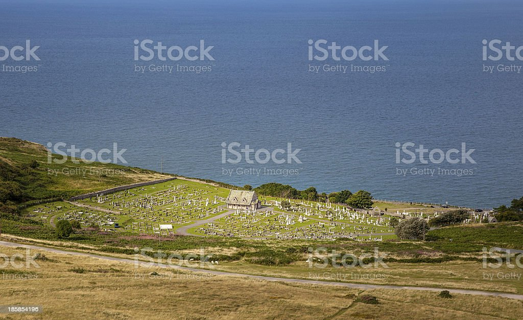 Cemetary by the sea royalty-free stock photo