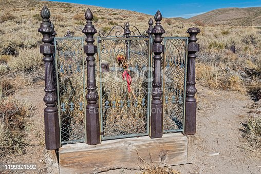 Grave of Lottie Johl  at the Cemetery at the Historic Gold Mining Ghost Town, Bodie State Historic Park,  California
