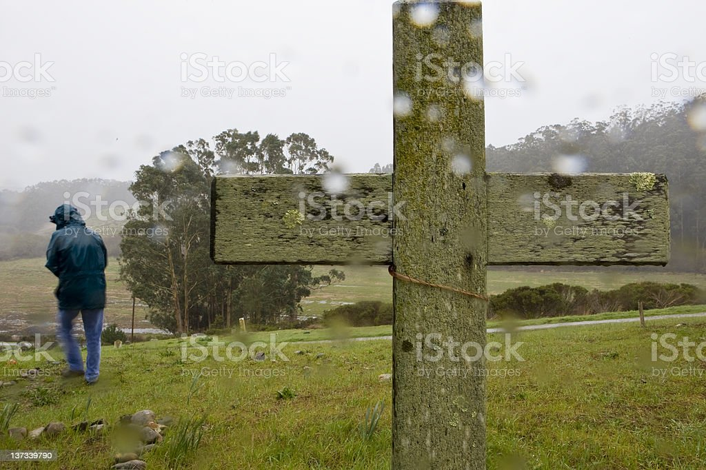 Cemetary in a Storm royalty-free stock photo