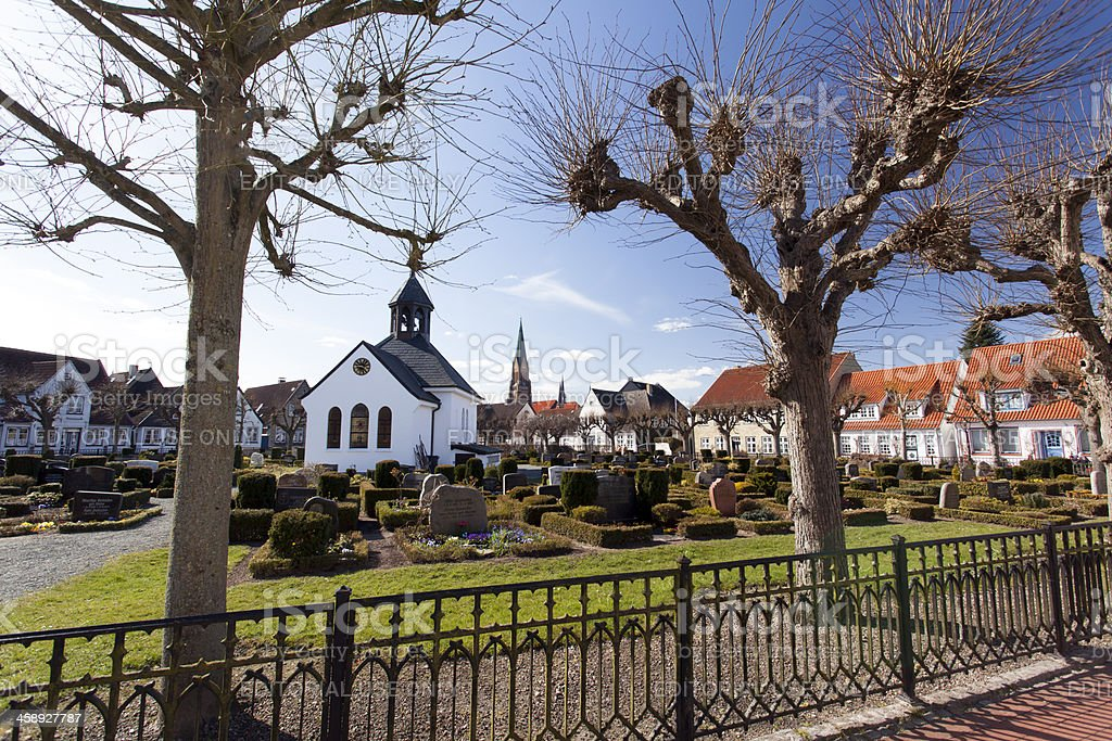 Cemetary in Schleswig Holm, Germany stock photo