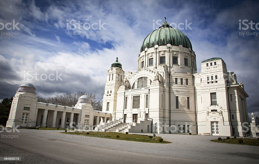 cemetary in vienna royalty-free stock photo
