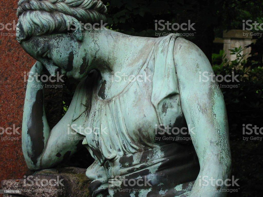 cemetary statue I stock photo