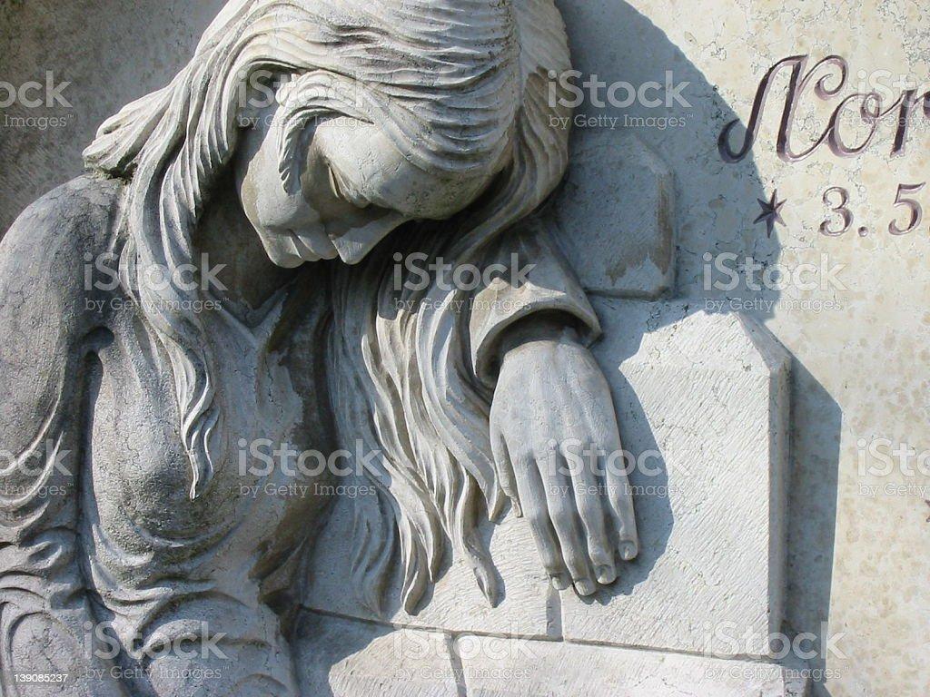 cemetary statue III stock photo