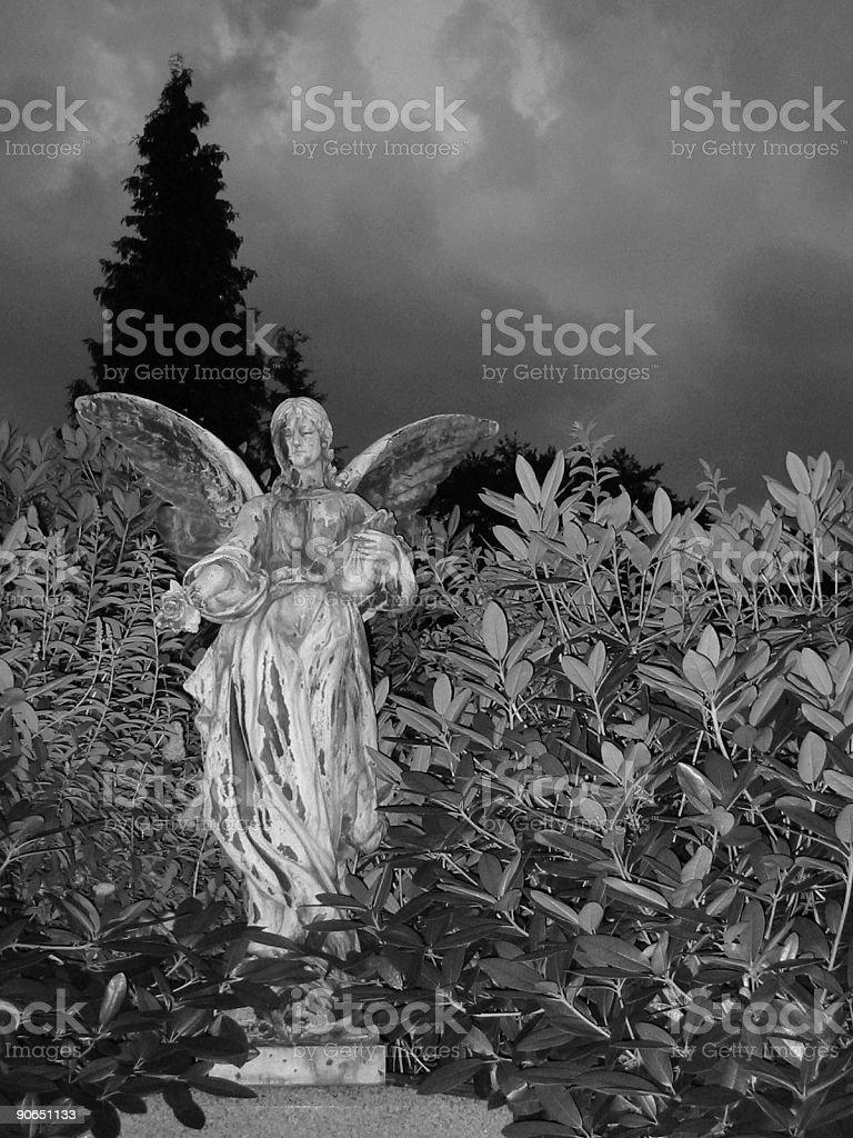 cemetary statue V stock photo