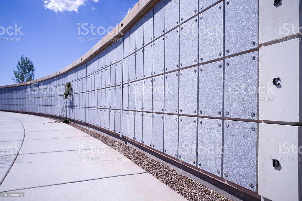 Cemetary Urn Mausoleum stock photo