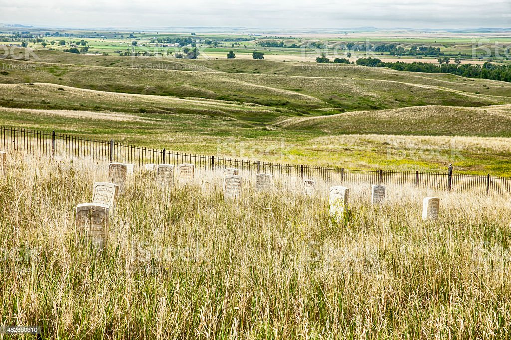 Cemetery And Battlefield At Little Bighorn stock photo