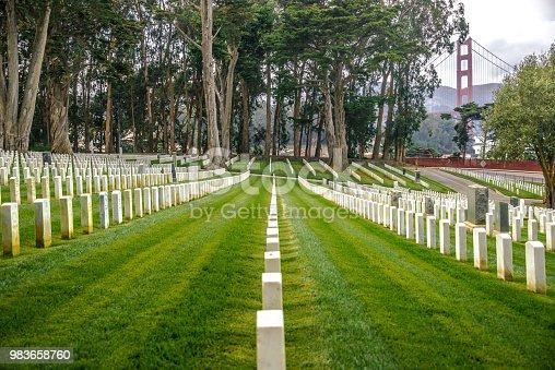 Military Cemetery in The Presidio