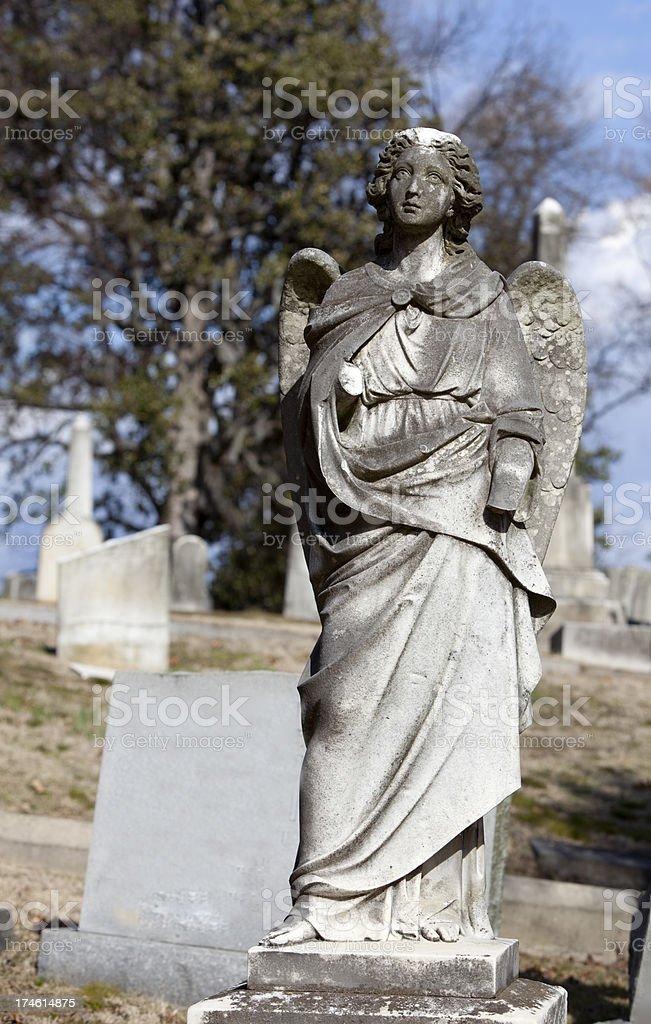 Cemetery Angel royalty-free stock photo