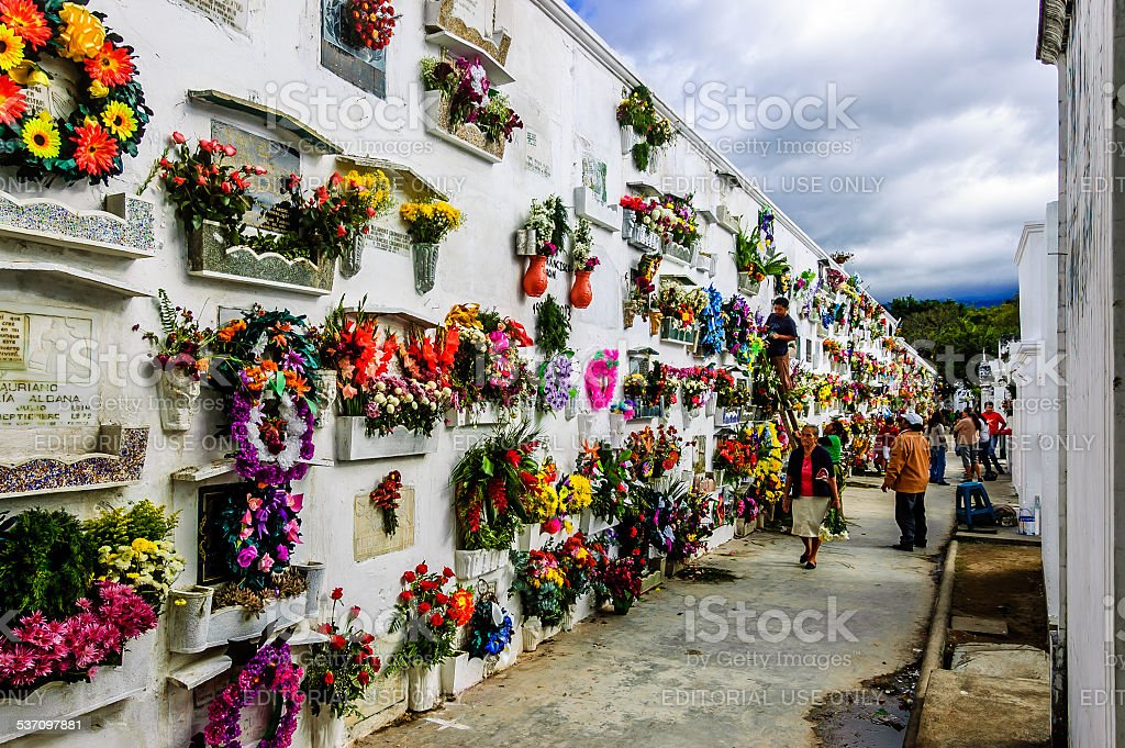 Cemetery, Antigua, Guatemala stock photo