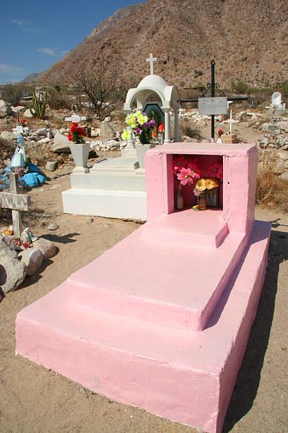 cemetery, baja mexico stock photo