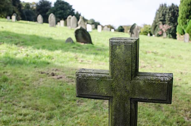 cemetery cross stock photo