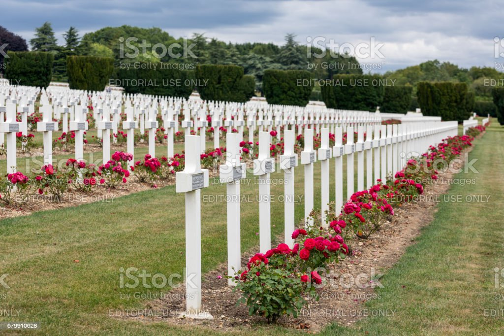 Cemetery for First World War soldiers died at Battle of Verdun stock photo