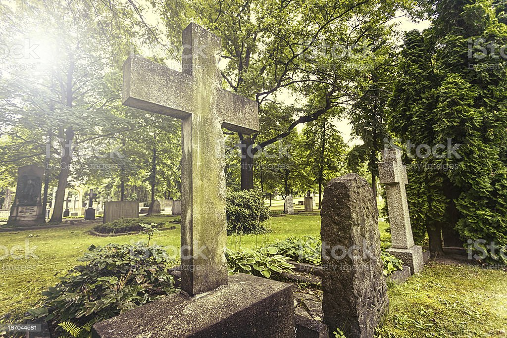 Cemetery graves royalty-free stock photo