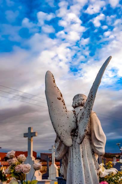 Cemetery graveyard. Ángel. - foto de stock