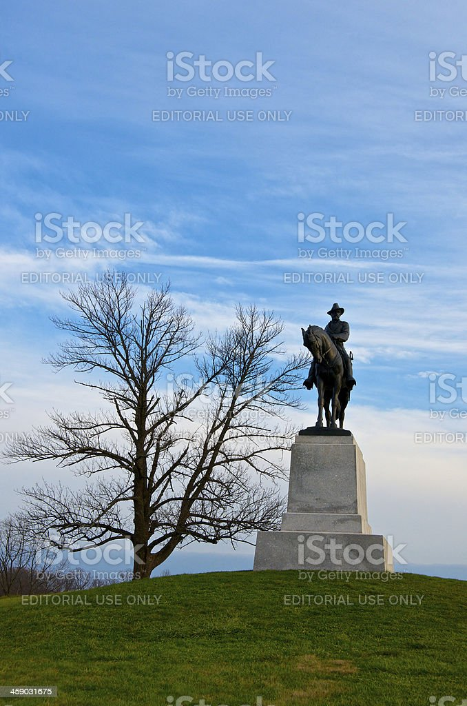 Cemetery Hill, Gettysburg American Civil War Battlefield, Pennsylvania USA royalty-free stock photo