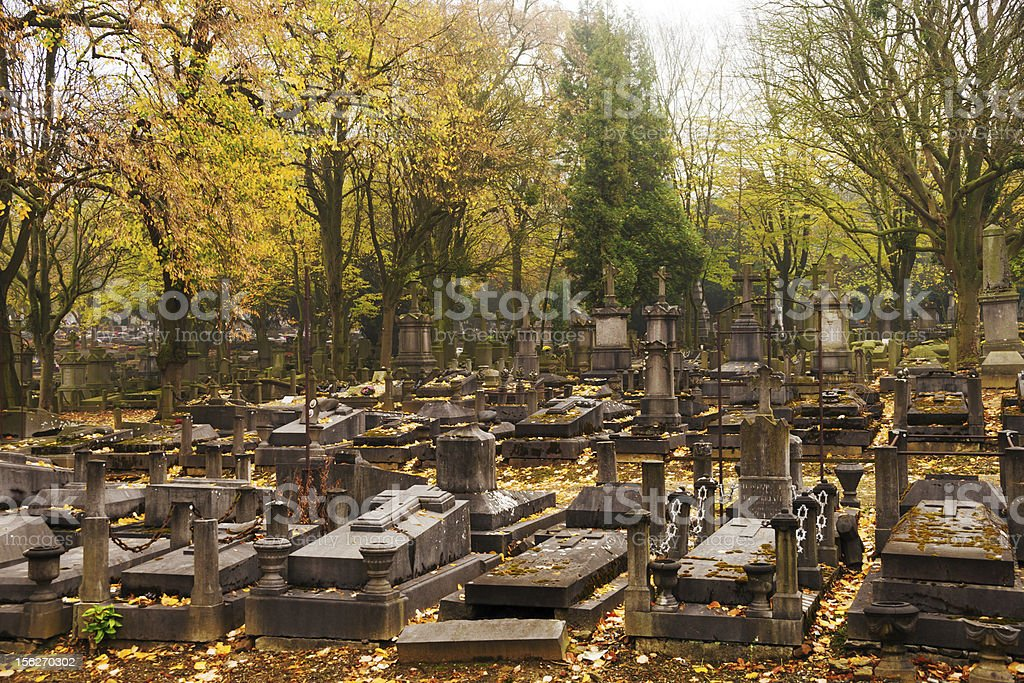 Cemetery in Autumn royalty-free stock photo