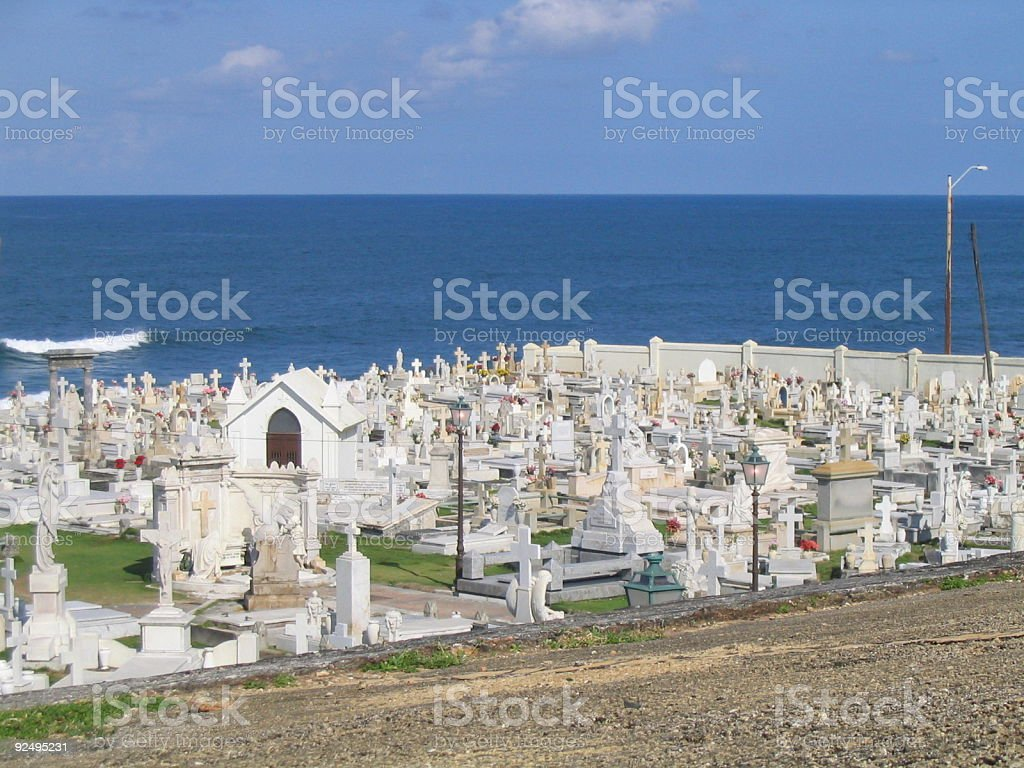 Cemetery in Old San Juan royalty-free stock photo