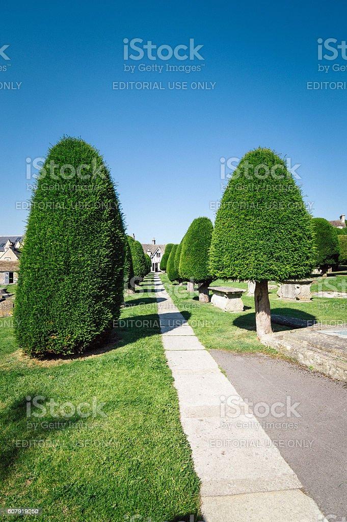 Cemetery in Painswick stock photo