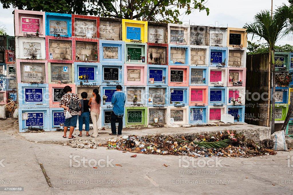 Cemetery in Philippines stock photo