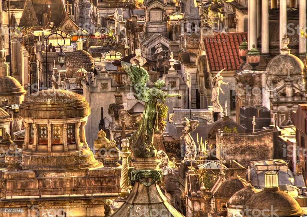 Cemetery in Recoleta 2 stock photo
