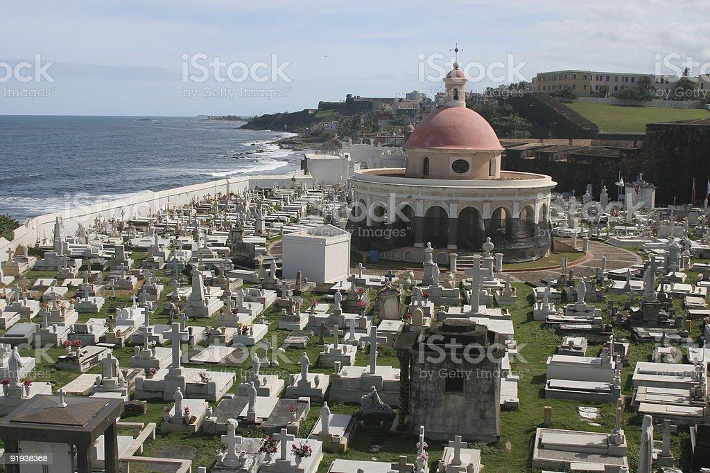 Cemetery in San Juan, Puerto Rico stock photo
