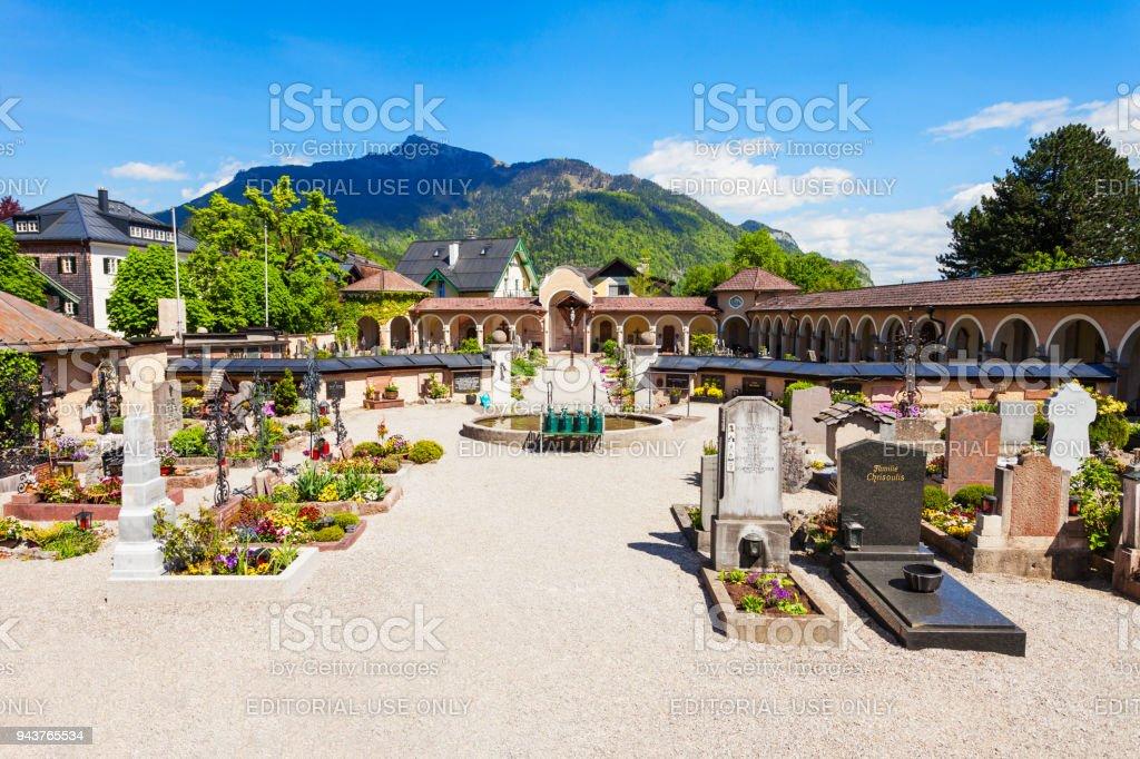 Cemetery in St. Gilgen stock photo