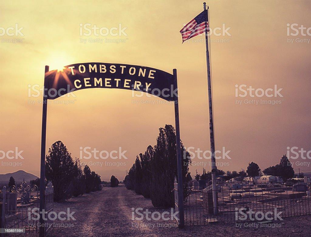 Cemetery in Tombstone, Arizona royalty-free stock photo