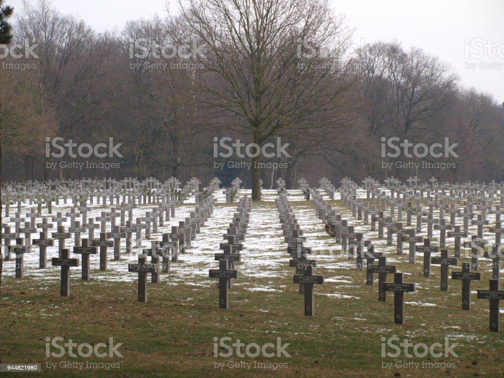 Friedhof In Ysselstein In Den Niederlanden Mit Deutschen Im 2
