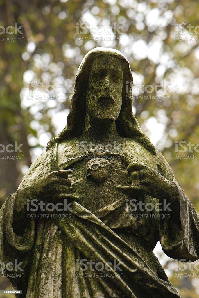 Cemetery Jesus Statue royalty-free stock photo