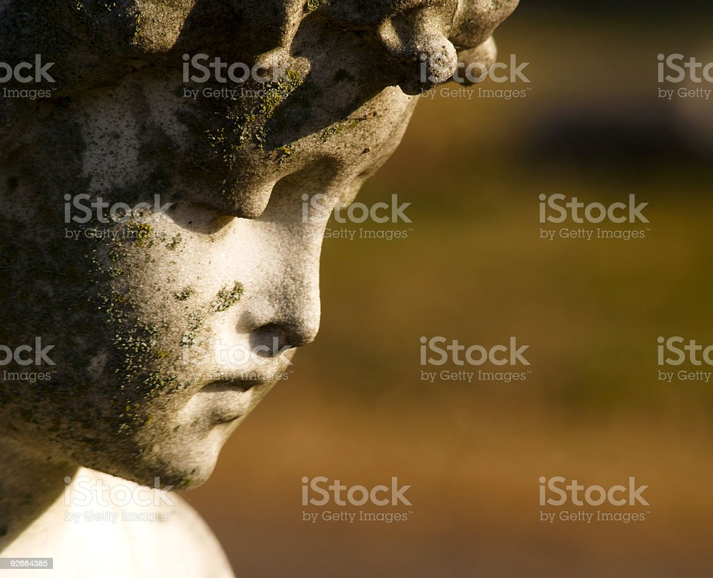 cemetery monument detail stock photo