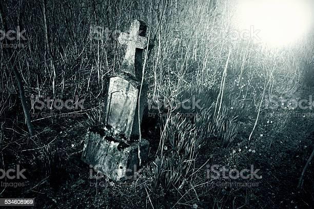 Photo of Cemetery night
