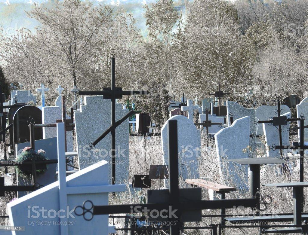 Cemetery of Chisinau, Moldova foto de stock royalty-free